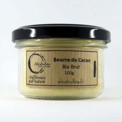 Beurre de cacao brut issue de l'agriculture biologique